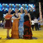 Chicas from the group enjoying the Feria de jerez in 2012